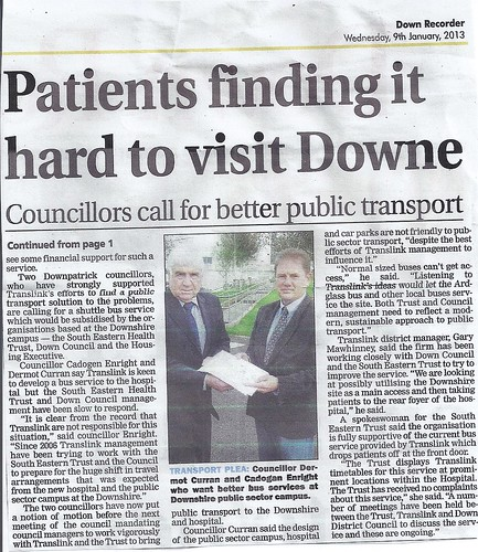 Dermot Curran and Cadogan Enright strive for bus transport solutions 9th Jan 2012