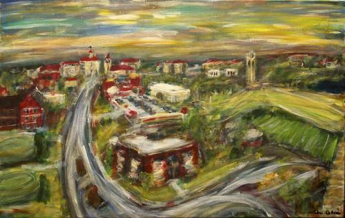 usa art painting landscape lawrence artwork ku kansas universityofkansas