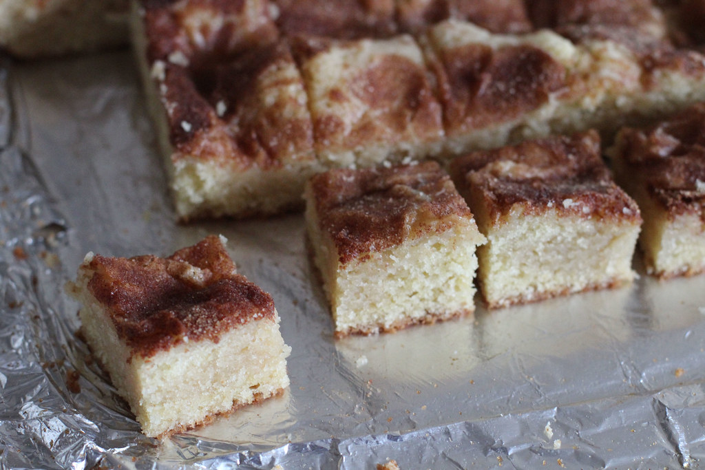 Gooey Cinnamon Cake Squares | the moveable feasts
