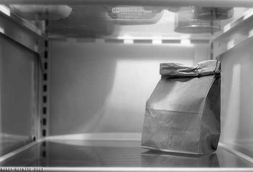 Brown Bag Lunch in Black and White