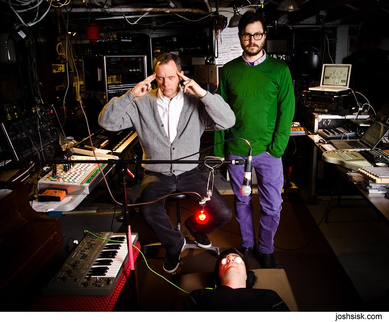 Matmos in the studio.