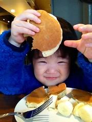 スタバでホットケーキ! 2013/2/23
