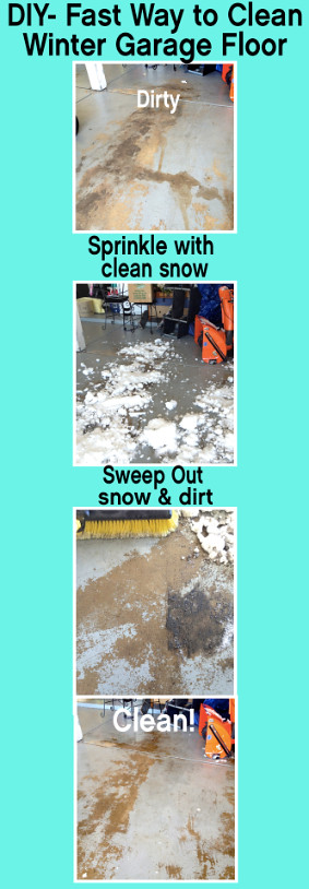 DIY- The Fastest and Easiest Way to Clean a Dirty, Winter Garage Floor from Factwoman Blog