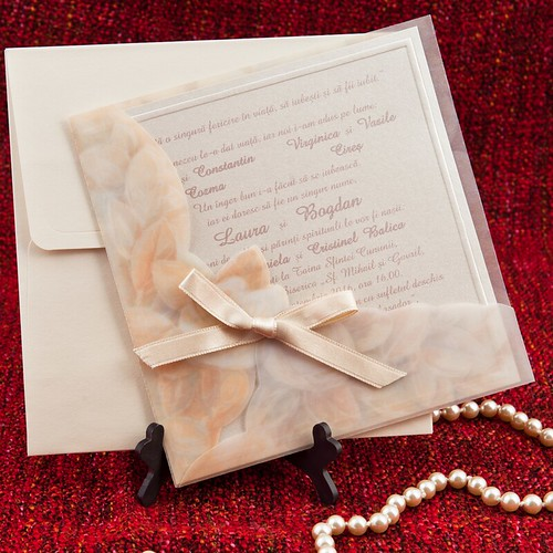 invitatii nunta cu folie calc by InvitatiiNunta