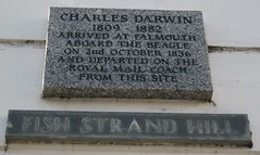 Photo of Charles Darwin and The Beagle marble plaque