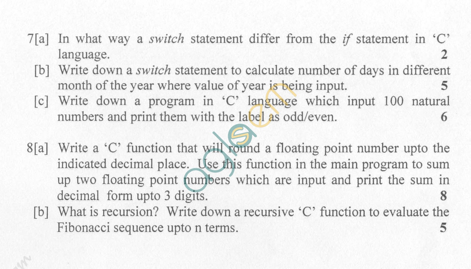NSIT: Question Papers 2009 – 2 Semester - End Sem - COE-IC-114