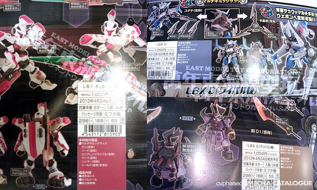 Danball Senki Wars - New LBX Kits