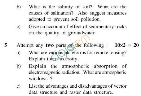 UPTU B.Tech Question Papers - TEN-401-Earth Science & GIS