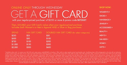 Welcome to FABBYLIFE: NM gift card event online (considering a ...