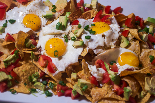 Egg and Chorizo Nachos #weekdaysupper