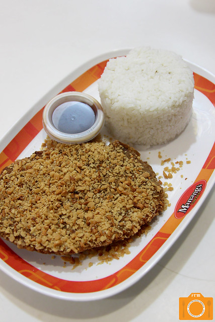 Manang's Chicken Garlic Pork Rice Meal