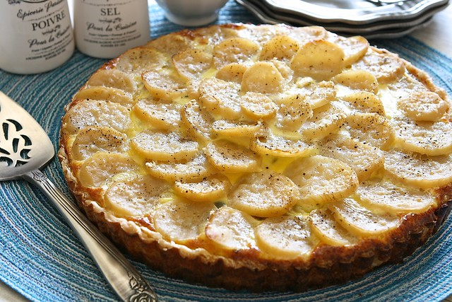 Potato Ham and Pea Quiche 001