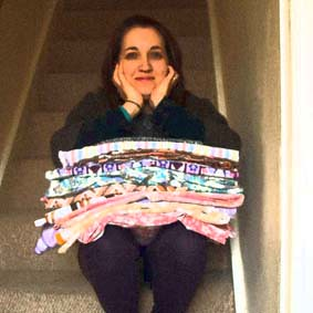 Me & a small selection of my vintage fabric collection SPT 07/03/13