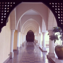 Love this long al fresco hallway #travel #hotel #photo