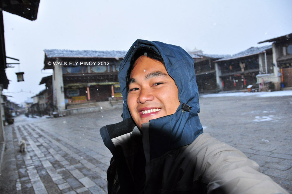 Excited for Snowfall in Zhongdian, Yunnan, China