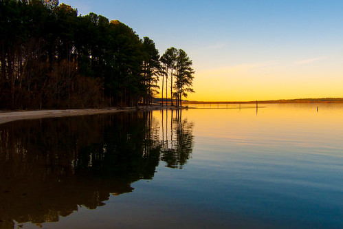sunset lake water night landscape nc clear carolina 14k jodan