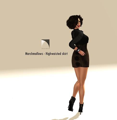 Marshmallows ~ Highwaisted Skirt by Marshmallows-Design