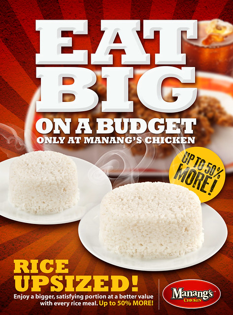 Bigger Rice at Manang's Chicken