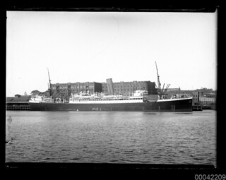 SS SOPHOCLES at the Aberdeen wharf at Millers Point, Sydney
