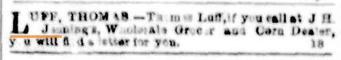 Mr Thomas Luff letter 4 January 1854 The Argus (Melbourne)