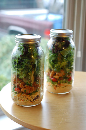 Buffalo Chicken Salad in a Jar