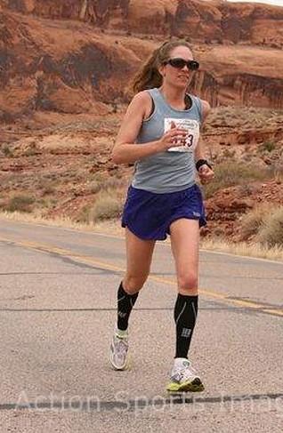 Ilana running canyonlands half marathon 2013