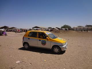 Táxi que apanhei até ao mercado de camelos