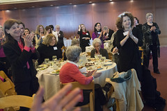 Bel Kaufman receives a standing ovation