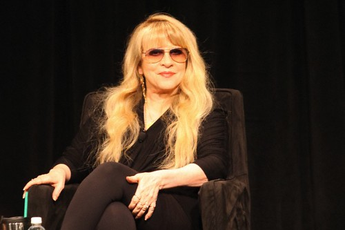 Stevie Nicks dressed in black.