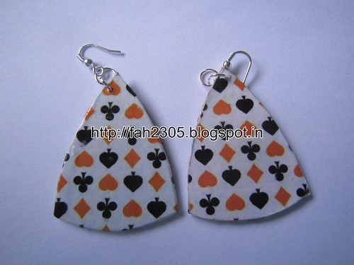 Handmade Jewelry - Card Paper Earrings (2) by fah2305