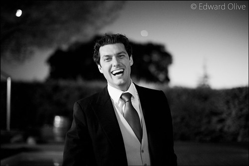 Portrait of groom in his garden - Copyright Edward Olive fotografos de bodas destination wedding photographer Spain & Europe by Edward Olive Actor Photographer Fotografo Madrid
