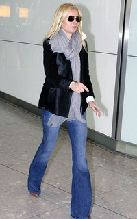 Gwyneth Paltrow Flared Jeans Celebrity Style Women's Fashion
