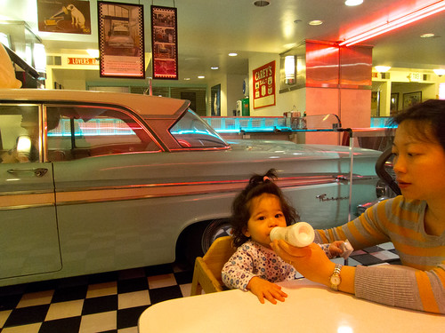Scarlett at her first Diner