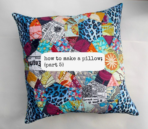 how to make a pillow {part 5}