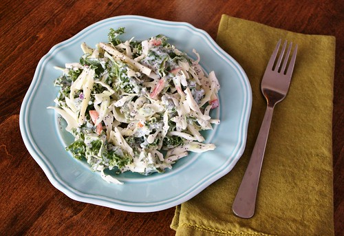 Kale Cabbage Coleslaw with Yogurt Poppy Seed Dressing ...