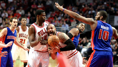 Caption this photo from last night's Bulls/Pistons game
