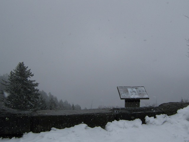 snow at newfound gap