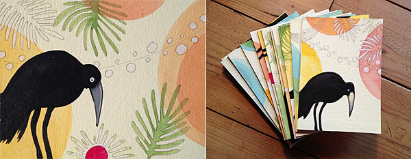 Cards for iHanna's DIY postcard swap spring 2013