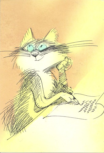 Cat Writing Letter