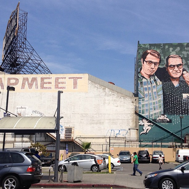"""Groan. A mural on the right honoring LA's teachers has a typo: """"Los Angele's"""""""