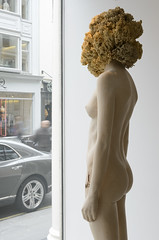 <strong>The Tainted - </strong> <br />Aron Demetz, Sensa Titolo (side profile), 2013, Maplewood and silicon, 60 cm x 217 cm