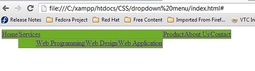 Menu Dropdown CSS