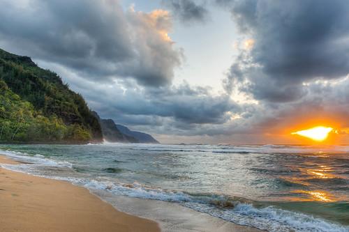 Ke'e Beach Napali Coast, Kauai
