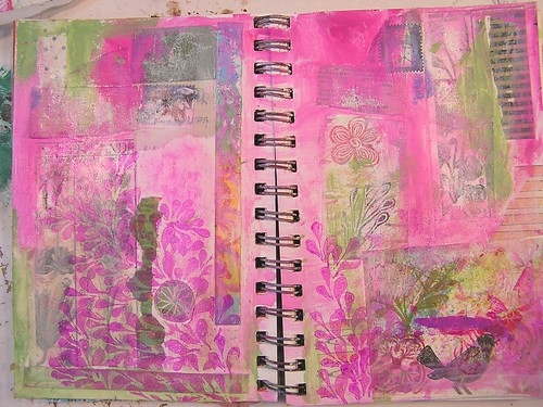 Collage Art Journal Page, Part 4