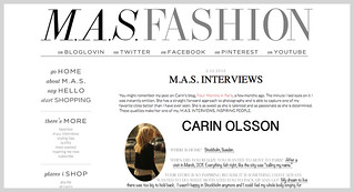 Interview with Carin Olsson (Paris in Four Months) on M.A.S. Fashion