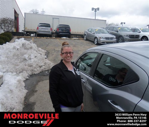 Monroeville Dodge would like to say Congratulations to Sara Wilkinson on the 2013 Dodge Avenger by Monroeville Dodge