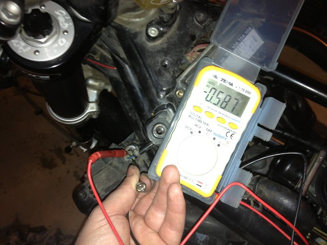Adjusting TPS (throttle positioning sensor)