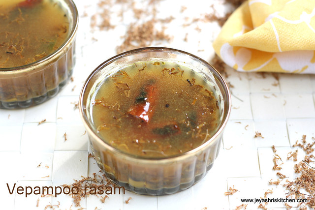 Vepampoo rasam +neem flower rasam