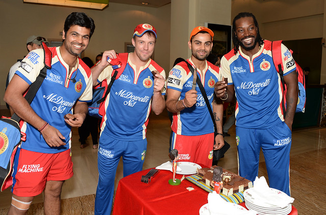 RP Singh, AB de Villiers, Virat Kohli and Chris Gayle ...