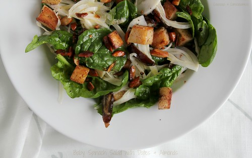 Baby Spinach Salad with Dates & Almonds 2